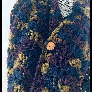 Vintage Hand Knit Shawl/Scarf